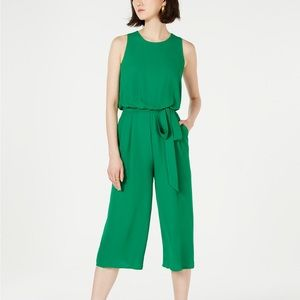 Vince Camino Green Open-Back Cropped Jumpsuit 8